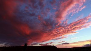 WSW-Himmel mit Abendrot am 5. August 2017 um 20:59 Uhr