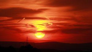 Sonnenuntergang am 7. August 2017 um 20:44 Uhr