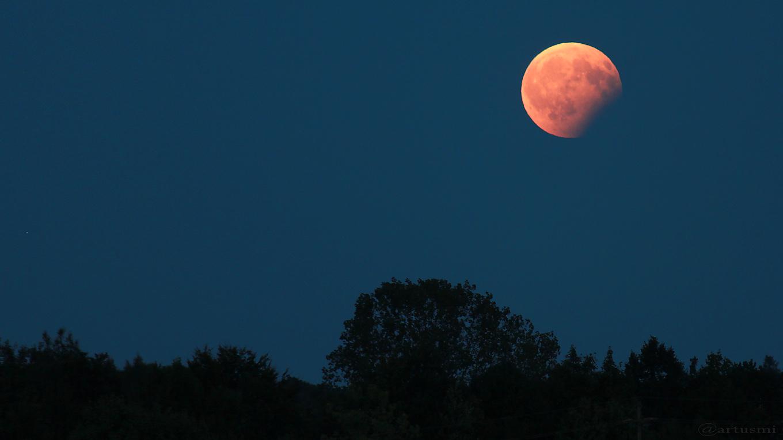 Partielle Mondfinsternis am 7. August 2017 um 21:04 Uhr