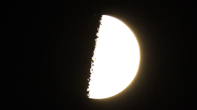 Mond bedeckt 24 Scorpii am 29. August 2017 um 21:11 Uhr