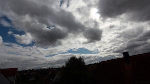 Südwesthimmel von Eisingen am 12. September 2017 um 14:59 Uhr