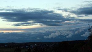 Westhimmel Richtung Waldbrunn am 14. September 2017 um 19:20 Uhr