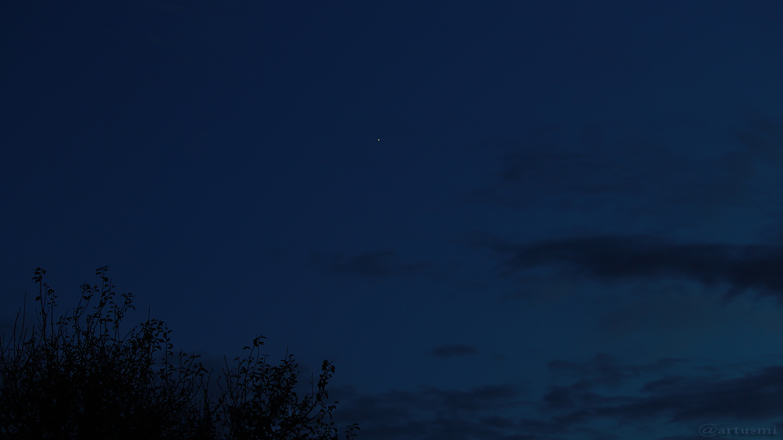 Saturn am 15. September 2107 um 20:13 Uhr am Südsüdwesthimmel