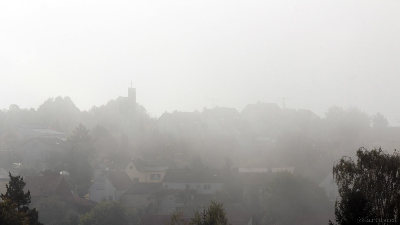Nebel in Eisingen am 21. September 2017 um 10:48 Uhr
