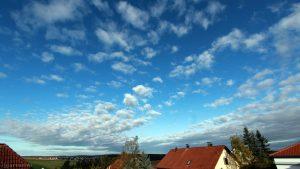 Westhimmel von Eisingen am 5. Oktober 2017 um 09:12 Uhr
