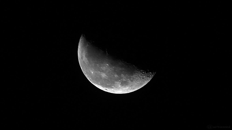 Abnehmender Mond am 13. Oktober 2017 um 04:08 Uhr