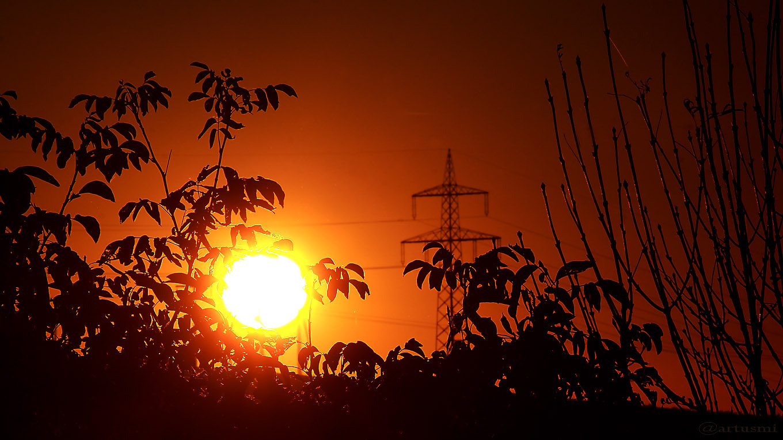 Eisingen Sunset am 14. Oktober 2017 um 18:20 Uhr