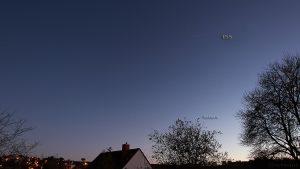 Saturn und ISS am 14. Oktober 2017 um 19:18 Uhr am Südwesthimmel von Eisingen