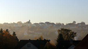 Nebel löst sich auf am 15. Oktober 2017 um 08:43 Uhr in Eisingen