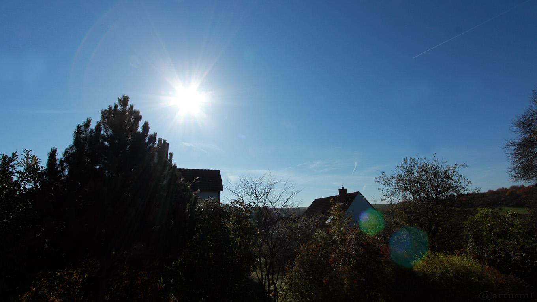 Sonnenstand am 17. Oktober 2017 um 11:26 Uhr am Südhimmel von Eisingen