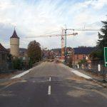 Neubau der Mainbrücke (B13) in Ochsenfurt am 20. Oktober 2017 um 13:47 Uhr