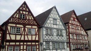 Fachwerkhäuser in Ochsenfurt am 20. Oktober 2017 um 14:25 Uhr