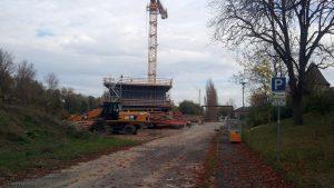 Neubau der Mainbrücke (B13) in Ochsenfurt am 20. Oktober 2017 um 14:39 Uhr