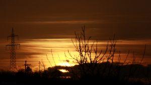 Untergehende Sonne am 29. Oktober 2017 um 16:46 Uhr