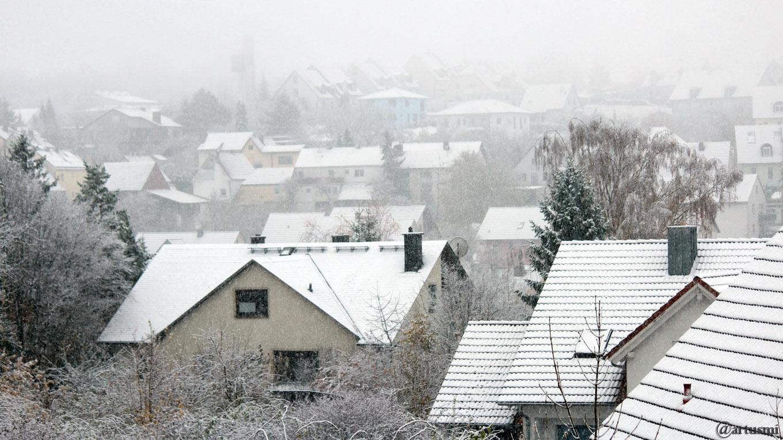Der erste Schnee im Herbst 2017