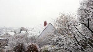 Erster Schnee am 12. November 2017 um 15:18 Uhr