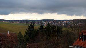Blick nach Waldbrunn am 29. November 2017 um 14:24 Uhr