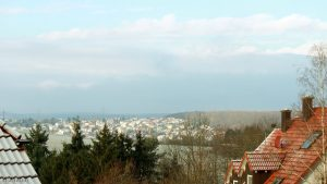 Blick nach Waldbrunn am 30. November 2017 um 09:37 Uhr