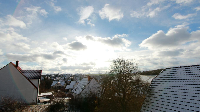 Südhimmel von Eisingen am 9. Dezember 2017 um 12:03 Uhr