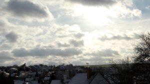 Südhimmel von Eisingen am 9. Dezember 2017 um 12:04 Uhr