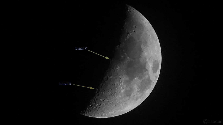 Lunar V und Lunar X am Weihnachtsmond