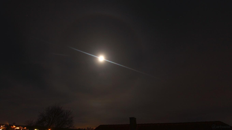22°-Ring am Mond - 26. Dezember 2017 um 19:59 Uhr