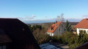 Blick Richtung Westen nach Waldbrunn am 29. Dezember 2017 um 11:57 Uhr