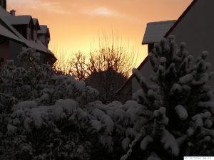 Winter mit sehr viel Schnee in Eisingen am 10. Dezember 2010