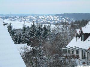 Winter mit sehr viel Schnee in Eisingen am 17. Dezember 2010