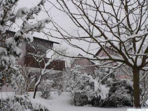Winter mit sehr viel Schnee in Eisingen am 25. Dezember 2010