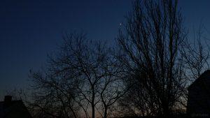 Venus am 13. Januar 2009 um 17:37 Uhr am Südwesthimmel