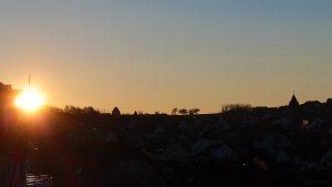 Sonnenaufgang am 11. Januar 2013 um 08:38 Uhr