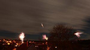 Silvesterfeuerwerk in Eisingen am 31. Dezember 2017 um 23:58 Uhr - Letztes Bild im 2017