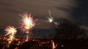Feuerwerk in Eisingen am 1. Januar 2018 um 00:00 Uhr - Erstes Bild 2018