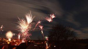 Feuerwerk in Eisingen am 1. Januar 2018 um 00:01 Uhr