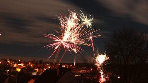 Feuerwerk in Eisingen am 1. Januar 2018 um 00:02 Uhr