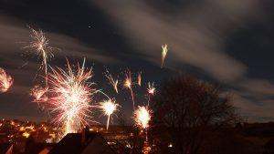 Feuerwerk in Eisingen am 1. Januar 2018 um 00:03 Uhr