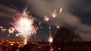 Feuerwerk in Eisingen am 1. Januar 2018 um 00:04 Uhr