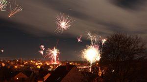 Feuerwerk in Eisingen am 1. Januar 2018 um 00:10 Uhr