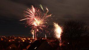 Feuerwerk in Eisingen am 1. Januar 2018 um 00:14 Uhr