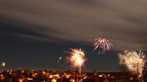 Feuerwerk in Eisingen am 1. Januar 2018 um 00:15 Uhr