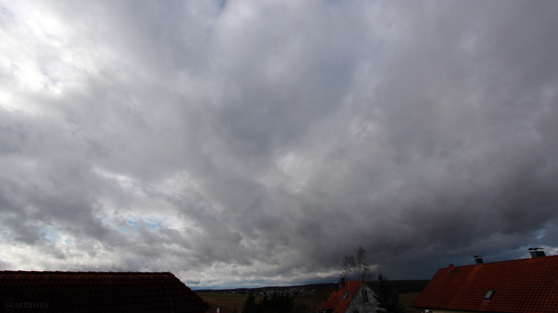 Sturmtief Friederike am 18. Januar 2018 um 12:53 Uhr Richtung Westen