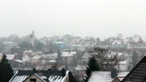 Wegen der +2 °C nur von kurzer Dauer - Neuschnee am 22. Januar 2018 um 10:39 Uhr