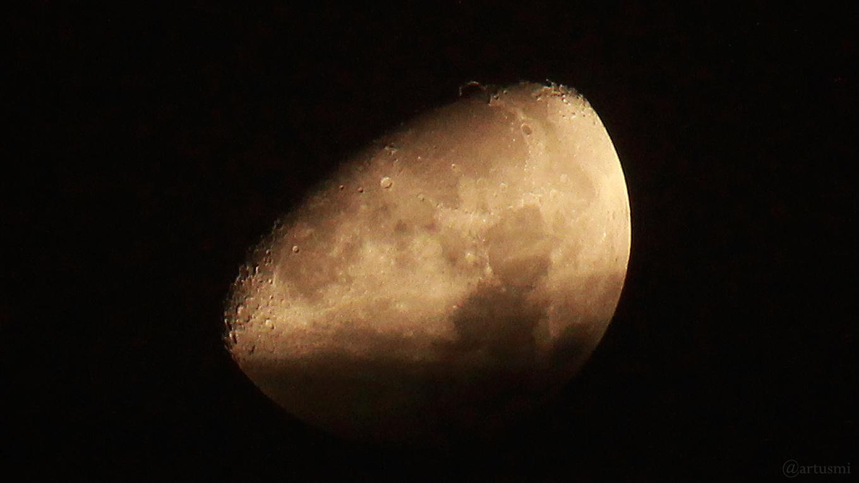 Goldener Henkel am 27. Januar 2018 um 02:15 Uhr am zunehmenden Mond