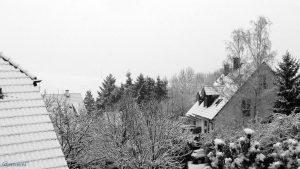 Neuschnee in Eisingen am 4. Februar 2018 um 10:08 Uhr - Schneefall bei +3 °C