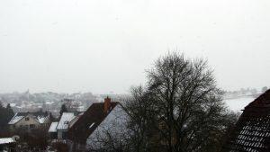 Leichter Schneefall am 11. Februar 2018 um 09:58 Uhr