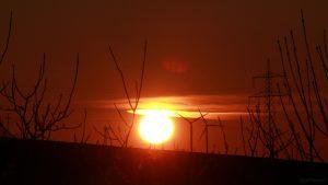 Sonnenuntergang am 25. Februar 2018 um 17:46 Uhr