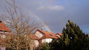 Regenbogen am 12. März 2018 um 17:21 Uhr