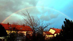 Regenbogen am 12. März 2018 um 18:08 Uhr