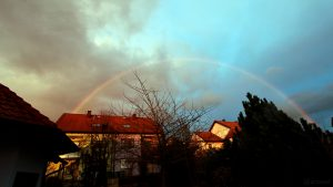 Regenbogen am 12. März 2018 um 18:09 Uhr